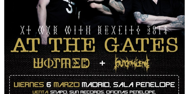 ROUTE RESURRECTION FEST 2015: WORMED y SOUND OF SILENCE serán los teloneros de AT THE GATES en su gira de marzo