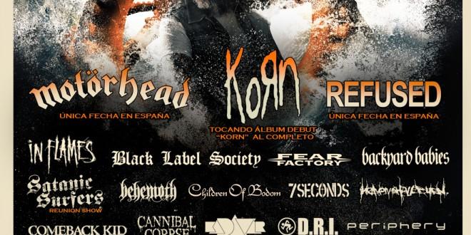 Nuevas bandas para el RESURRECTION FEST 2015: KORN, REFUSED y muchos más…