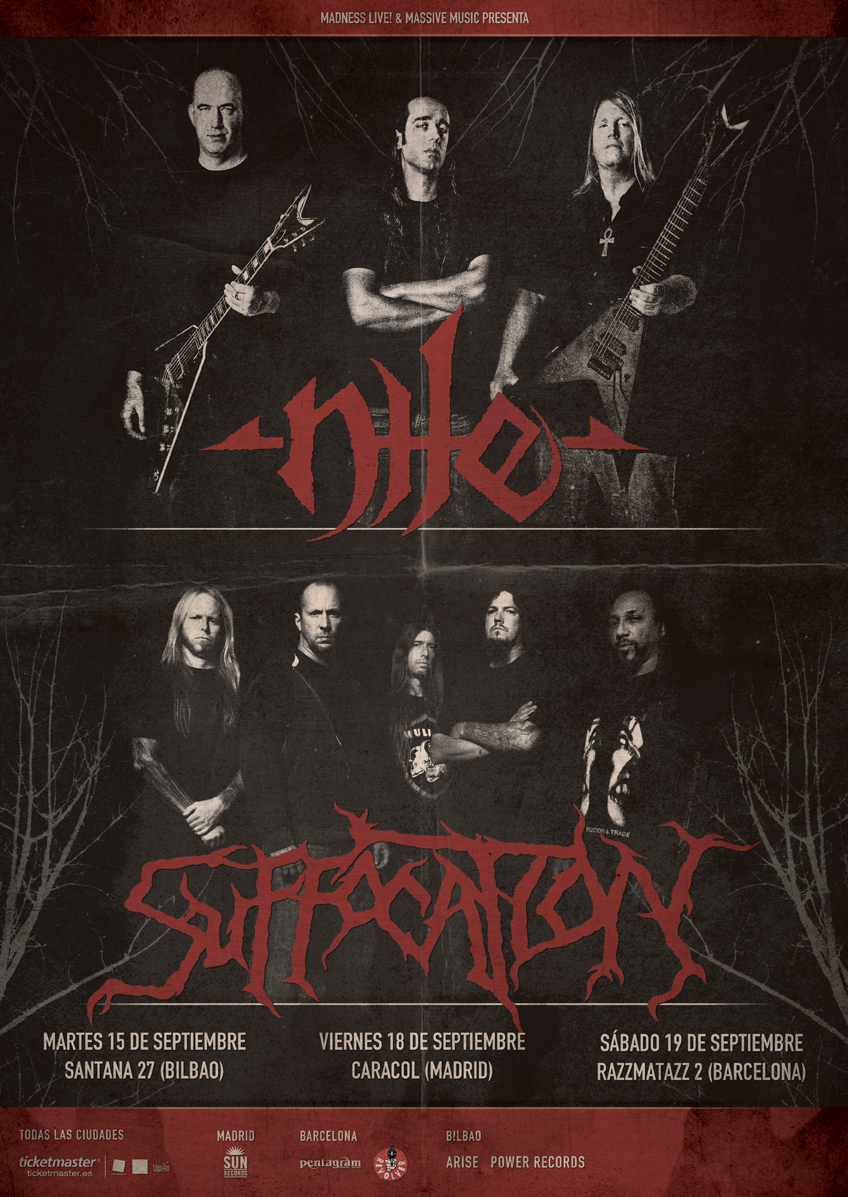 gira NILE y SUFFOCATION